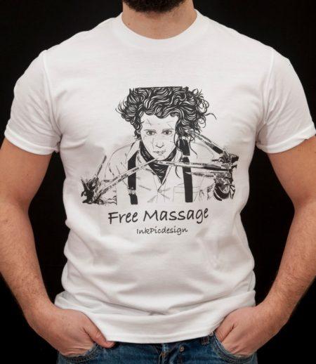 T-shirt Edward mani di forbice uomo