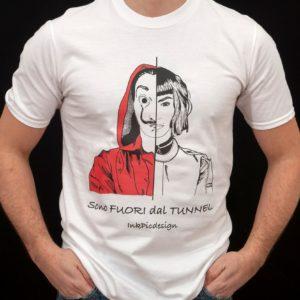 T-shirt casa di carta uomo