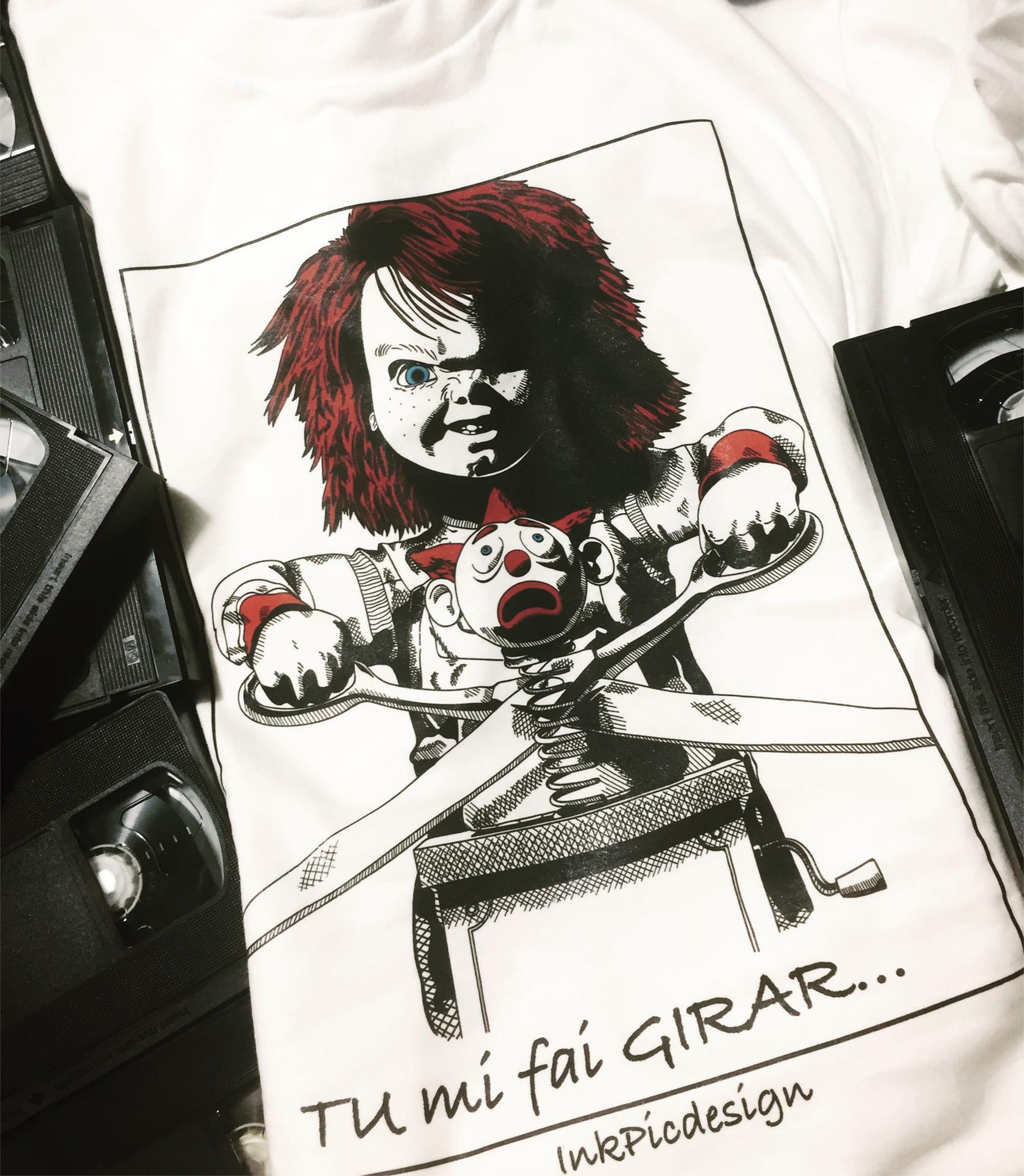 T-shirt bambola assassina uomo donna